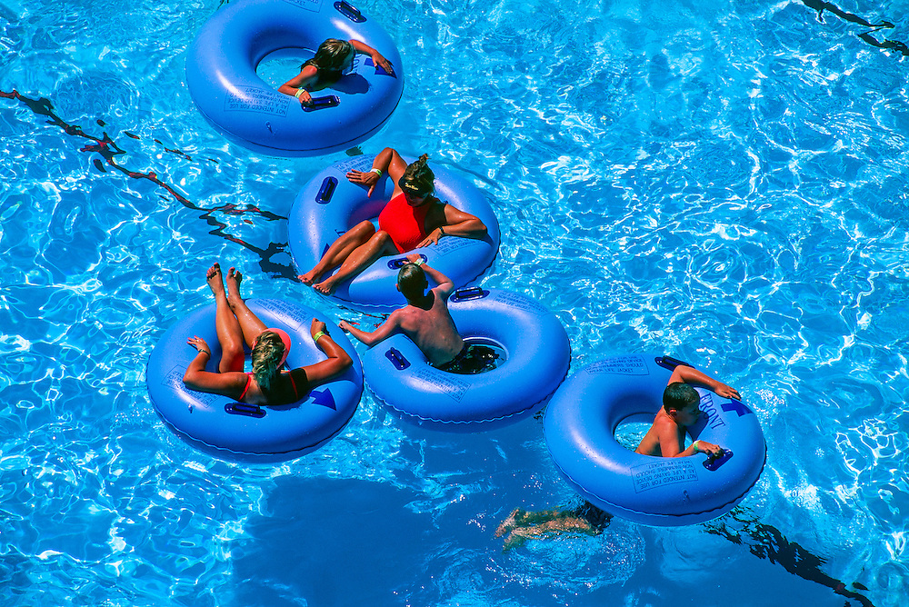 Commotion Ocean (wave pool), Island Kingdom, Elitch Gardens amusement park, Denver, Colorado