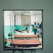 INDIVIDUAL(S) PHOTOGRAPHED: N/A. LOCATION: Justinian University Hospital (HUJ), Cap-Haïtien, Haïti. CAPTION: A view of a maternity ward at the Justinian University Hospital (HUJ) in Cap-Haïtien.