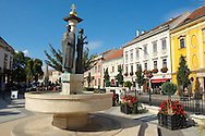 The fountain of Fidelity - Sopron, Hungary .<br /> <br /> Visit our HUNGARY HISTORIC PLACES PHOTO COLLECTIONS for more photos to download or buy as wall art prints https://funkystock.photoshelter.com/gallery-collection/Pictures-Images-of-Hungary-Photos-of-Hungarian-Historic-Landmark-Sites/C0000Te8AnPgxjRg
