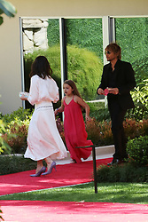 Victoria Beckham Harper and Ken Paves seen leaving Eva Longoria's party after receiving a star on The Walk Of Fame. 16 Apr 2018 Pictured: Harper Beckham, Victoria Beckham, Ken Paves. Photo credit: Rachpoot/MEGA TheMegaAgency.com +1 888 505 6342
