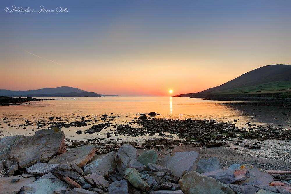 Black Strand Sunset, Cahersiveen County Kerry, Ireland.