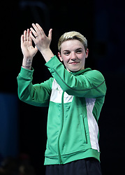Northern Ireland's Kristina O'Hara reacts at Oxenford Studios during day ten of the 2018 Commonwealth Games in the Gold Coast, Australia.