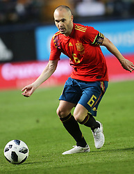Andres Iniesta of Spain during Spain v Switzerland international friendly match in Villareal, Spain, June 3, 2018. The game finished in a 1-1 draw. Photo by Giuliano Bevilacqua/ABACAPRESS.COM