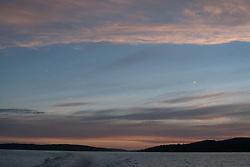 Dusk Over Orcas Island, San Juan Islands, Washington, US