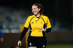 Referee Claire Hodnett takes charge of the match - Mandatory byline: Rogan Thomson/JMP - 28/12/2015 - RUGBY UNION - The Recreation Ground - Bath, England - Bath United v Bristol United - Aviva A League.