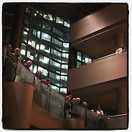 2018 NOVEMBER 17 - View of interior lobby area of Benaroya Hall, Seattle, WA, USA. Taken/edited with Instagram App for iPhone. By Richard Walker