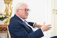 02 FEB 2021, BERLIN/GERMANY:<br /> Frank-Walter Steinmeier, Bundespraesident, waehrend einem Interview, Robert-Blum-Saal, Schloss Bellevue<br /> IMAGE: 20210202-01-018<br /> KEYWORDS: BUndespräsident