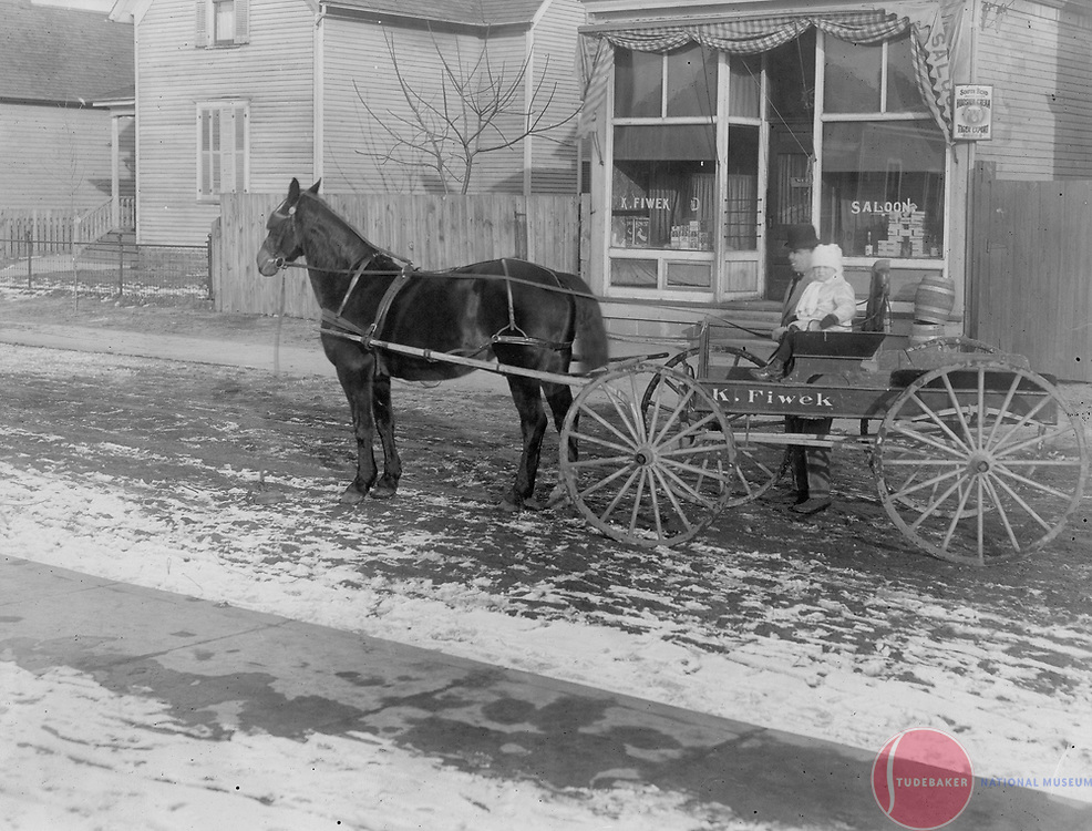 Casimir Fiwek's Saloon at 540 S. Carlisle Street in South Bend, IN c. 1905