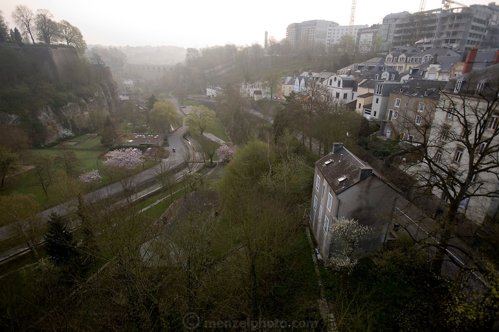 The Grund Valley and typical houses in Luxembourg city.