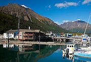 Alaska. Seward Harbor scenic view looking to the northwest.