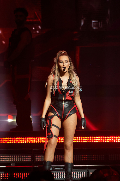 Perrie Edwards of Little Mix perform on stage during 'The LM5 Tour' at Wizink Center on September 17, 2019 in Madrid, Spain