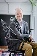 Dr. Daniel E. Hickey the new head of school of Upland Country Day School in Kennett Square, Pa  on 10 May 2017. Photograph © Jim Graham 2017