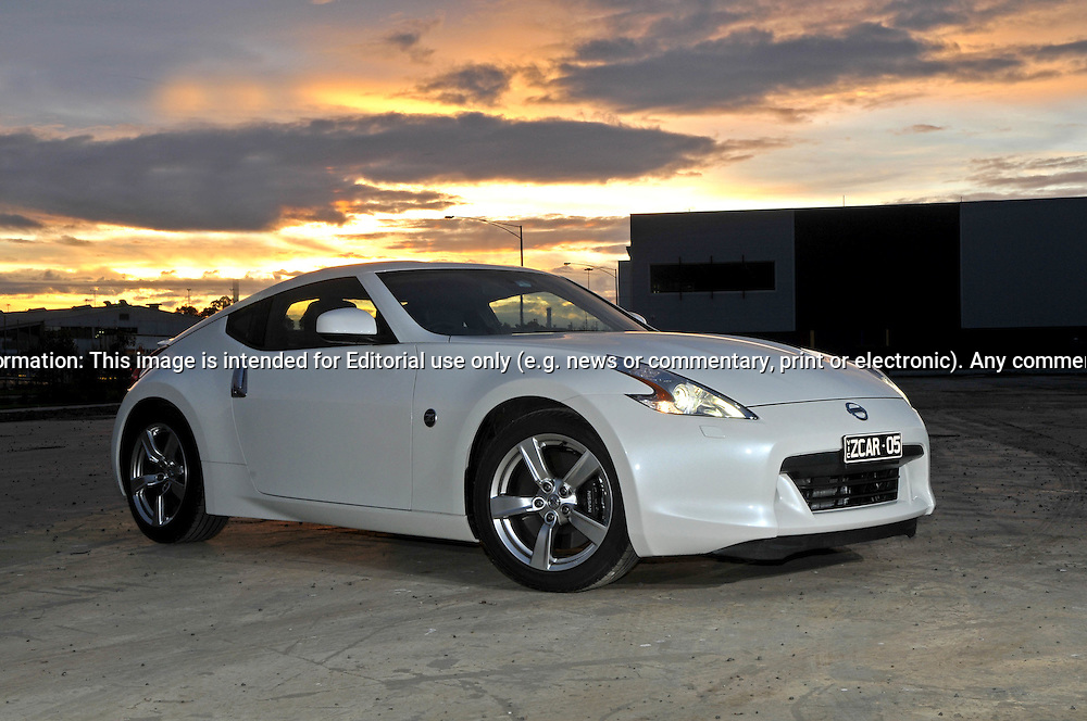 2009 Nissan 370Z Photo Shoot .Shiro White.Port Melbourne, Victoria .20th of June 2009.(C) Joel Strickland Photographics.Use information: This image is intended for Editorial use only (e.g. news or commentary, print or electronic). Any commercial or promotional use requires additional clearance.