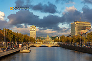 River Liffey with the Custom House in downtown Dublin, Ireland