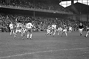 Kerry attempts to fend off Tyrone player during the All Ireland Minor Gaelic Football Final, Tyrone v Kerry in Croke Park on the 28th September 1975.