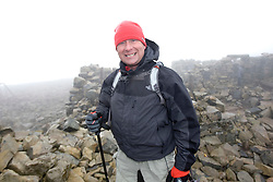 transport manager Phil McQuillan, 40, from Glasgow..The John Hartson Foudation walk up Ben Nevis..Pic ©2010 Michael Schofield. All Rights Reserved.