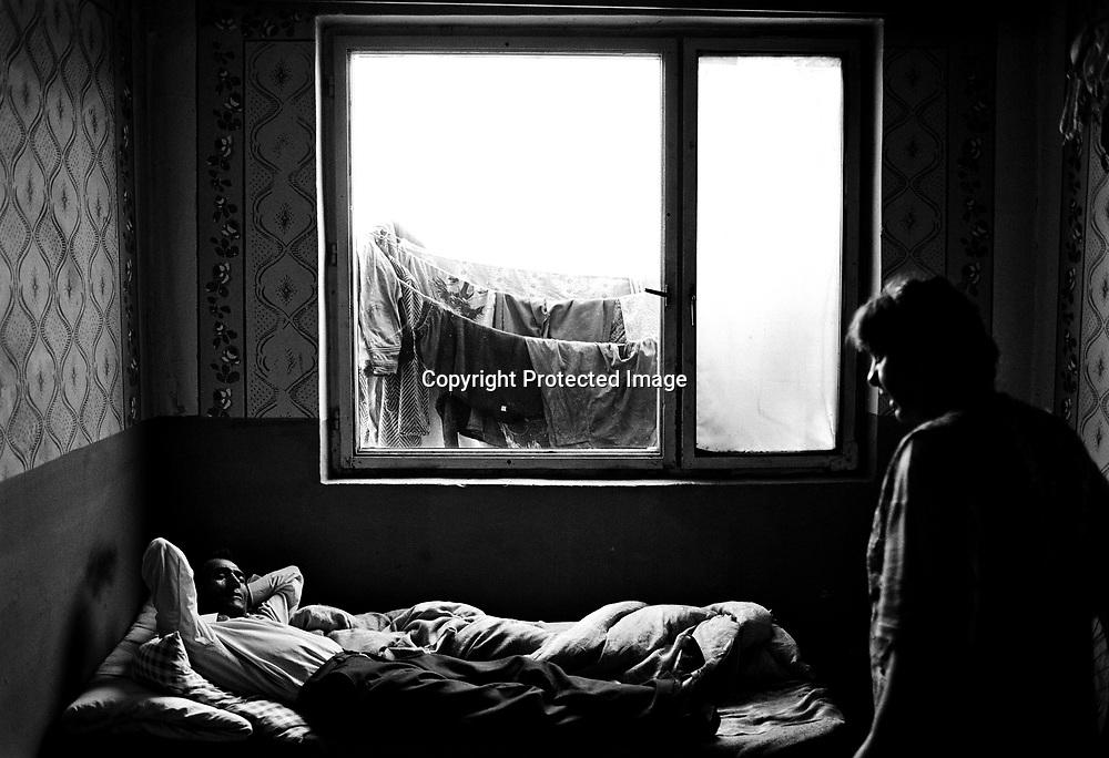 Inside a small appartment in the ghetto in Moldava Nau Bodvou, Slovakia.