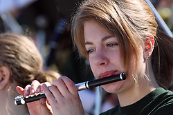 17 September 2011: Piccolo player during an NCAA Division 3 football game between the Aurora Spartans and the Illinois Wesleyan Titans on Wilder Field inside Tucci Stadium in.Bloomington Illinois.