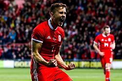 Will Vaulks of Wales celebrates Ben Woodburn of Wales scoring a last minute winning goal - Mandatory by-line: Robbie Stephenson/JMP - 20/03/2019 - FOOTBALL - The Racecourse Ground - Wrexham, United Kingdom - Wales v Trinidad and Tobago - International Challenge Match