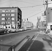 Y-670513-B03. SW 16th & West Burnside. May 13, 1967. Portland, Oregon.