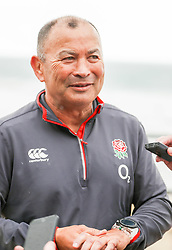 Eddie Jones (Head Coach) of England - Mandatory by-line: Steve Haag/JMP - 20/06/2018 - RUGBY - Hotel Umhlanga - Durban, South Africa - England Rugby Press Conference and Training, South Africa Tour