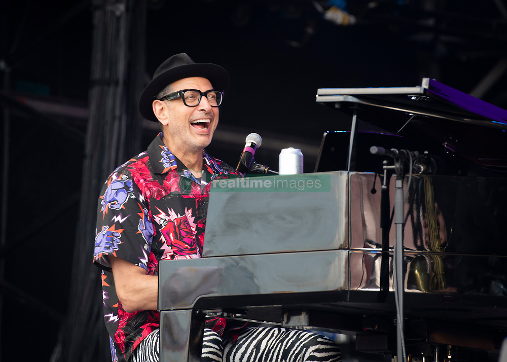 Jeff Goldblum performs with The Mildred Snitzer Orchestra on day 5 of Glastonbury Festival 2019 at Worthy Farm, Pilton, Somerset. Picture date: Sunday 30th June 2019.  Photo credit should read:  David Jensen/EMPICS Entertainment