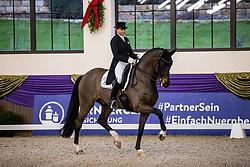 Kronberg, Gestüt Schafhof, KRONBERG _ Int. Festhallen Reitturnier Schafhof Edition 2020<br /> <br /> SCHNEIDER Dorothee (GER), First Romance 2<br /> Louisdor-Preis - Finale 2020 <br /> Nachwuchspferde Grand Prix für 8 - 10j. Pferde / Einlaufprüfung <br /> Kurz Grand Prix<br /> Dressurprüfung Kl.S***<br /> <br /> 19. December 2020<br /> © www.sportfotos-lafrentz.de/Stefan Lafrentz