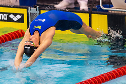 05-04-2019 NED: Swim Cup, Den Haag<br /> Kira Toussaint wins the 100 meter backstroke during the Swim Cup