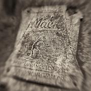 Mack Bulldog Emblem - Motor Transport Museum - Campo, CA - Lensbaby - Sepia Black & White