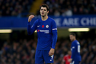 Alvaro Morata of Chelsea looks on. <br /> Premier league match, Chelsea v Manchester United at Stamford Bridge in London on Sunday 5th November 2017.<br /> pic by Kieran Clarke, Andrew Orchard sports photography.
