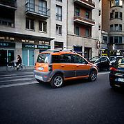 La Milano arancione dopo la vittoria di Giuliano pisapia..The orange Milan after the victory of Giuliano PIsapia