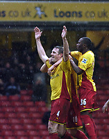 Photo: Jonathan Butler.<br />Watford v Stockport County. The FA Cup. 06/01/2007.<br />Malky Mackay of Watford celebrates after scoring.