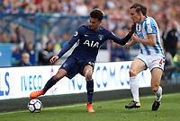 Football - 2017 / 2018 Premier League - Huddersfield Town vs. Tottenham Hotspur<br /> <br /> Dele Alli of Tottenham Hotspur and Dean Whitehead of Huddersfield Town at John Smith Stadium.<br /> <br /> COLORSPORT/LYNNE CAMERON