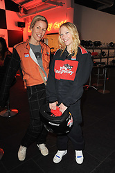 Left to right, SYDNEY INGLE-FINCH and NATALIE PRESS at an evening of go-karting hosted by Tag Heuer at Docklands Raceway, 3 Herringham Road, London SE7 on 16th June 2010.