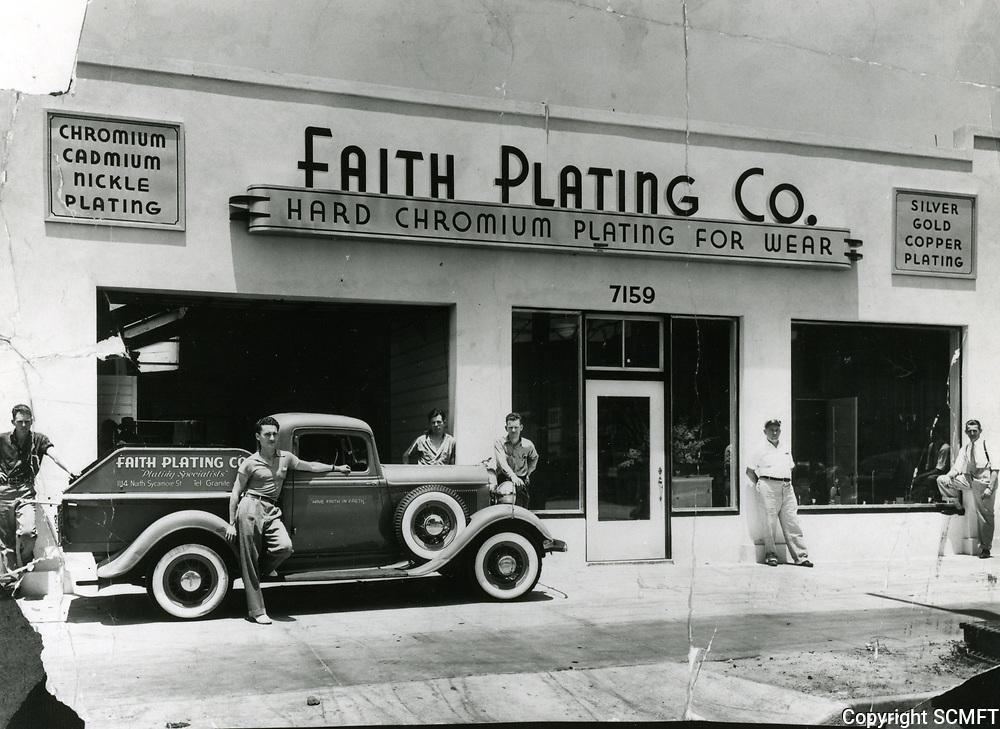1937 Faith Plating Co. at 7159 Santa Monica Blvd.