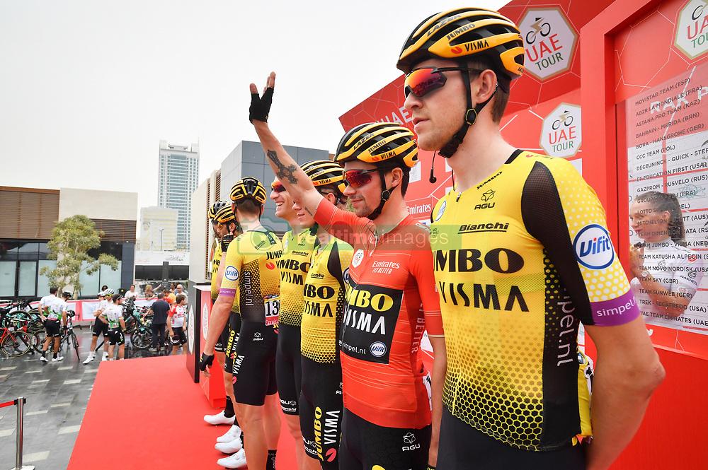 March 1, 2019 - Emirati Arabi Uniti - Foto LaPresse - Massimo Paolone.1 Marzo 2019 Emirati Arabi Uniti.Sport Ciclismo.UAE Tour 2019 - Tappa 6 - da Ajman a Jebel Jais - 180 km.Nella foto: Primoz Roglic (Team Jumbo - Visma)..Photo LaPresse - Massimo Paolone.March 1, 2019 United Arab Emirates.Sport Cycling.UAE Tour 2019 - Stage 6 - Ajman to Jebel Jais - 111,8 miles.In the pic: Primoz Roglic  (Credit Image: © Massimo Paolone/Lapresse via ZUMA Press)