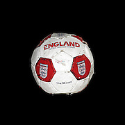Old red and white england football