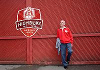 Photo: Daniel Hambury.<br />Arsenal v Wigan Athletic. The Barclays Premiership. 07/05/2006.<br />Arsenal fan for 72 years, 34 as a steward, John Henderson.