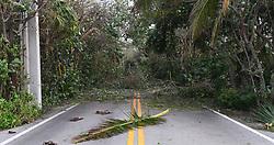 A1A was blocked from Hurricane Irma damage near Manalapan, Boynton Beach, FL, USA on Monday, September 11, 2017. Photo by Jim Rassol/Sun Sentinel/TNS/ABACAPRESS.COM