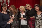 CHERIE BLAIR; KATHRYN BLAIR; JUDY FINNIGAN; ARLENE PHILLIPS, Pre -drinks at the St. Martin's Lane Hotel before a performance of the English National Ballet's Nutcracker: London Coliseum.12 December 2013