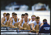Henley, Great Britain, Men's Eights, Leander Club, 1988 Henley Royal Regatta, Henley Reach, River Thames, Annual Event. [Mandatory credit: Peter Spurrier/Intersport Images]