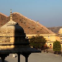 Asia, India, Amer. Amber Palace Courtyard.