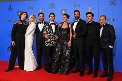 January 6, 2019 - Los Angeles, California, U.S. - The cast of ''The Assassination of Gianni Versace: American Crime Story'' in the Press Room during the 76th Annual Golden Globe Awards at The Beverly Hilton Hotel. (Credit Image: © Kevin Sullivan via ZUMA Wire)