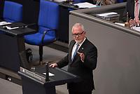 DEU, Deutschland, Germany, Berlin, 07.07.2016: Wolfgang Hellmich (SPD), Vorsitzender des Verteidigungsausschusses, bei einer Rede im Deutschen Bundestag.