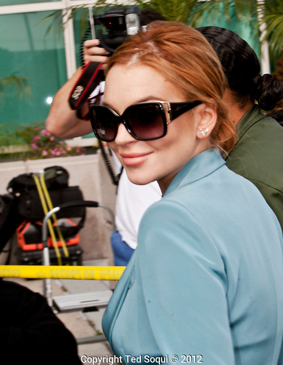 Lindsay Lohan at the Airport Branch LA County Courthouse. This is her final court appearance.