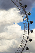 London Eye after a brief thunderstorm