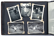 old photo album with vintage images from the 1950s