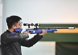 PALEMBANG, Aug. 24, 2018  Pak Myong Won of the Democratic People's Republic of Korea competes during the men's 10m running target at the 18th Asian Games in Palembang, Indonesia, Aug. 24, 2018. (Credit Image: © Wang Shen/Xinhua via ZUMA Wire)