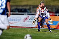 Fotball<br /> 4. September 2010<br /> Toppserien<br /> Arna Idrettspark<br /> Arna Bjørnar v Stabæk 7 - 0<br /> Kristy Moore (L) , Stabæk<br /> Reidun Seth (R) , Arna-Bjørnar<br /> Foto: Astrid M. Nordhaug