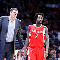 11 February 2015: Houston Rockets head coach Kevin McHale is seen next Houston Rockets guard Patrick Beverley (2) during the Los Angeles Clippers 110-95 victory over the Houston Rockets, at the Staples Center, Los Angeles, California, USA.